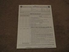 1951 PONTIAC CHIEFTAIN STREAMLINER CATALINA NEW VEHICLE PRE DELIVERY SHEET