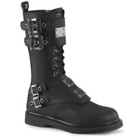 Demonia BOLT-345 Men's Punk Ska Emo Psychobilly Screamo Mid-Calf Combat Boots