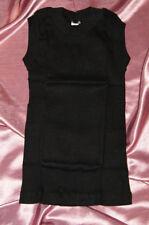 Neu! Vintage Olympia Jacke Sporthemd Baumwolle Doppelripp schwarz 116