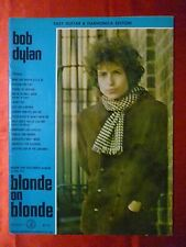Easy Guitar & Harmonica BOB DYLAN Songbook BLONDE ON BLONDE Sheet Music 1967
