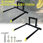 3 Point Quick Hitch Pallet Fork Category 1 Tractor Bucket Clamp Mover Adjustable