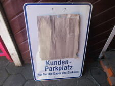 Kundenparklplatz Supermarché Magasin Discount Parking Plaque 500x750mm Déco