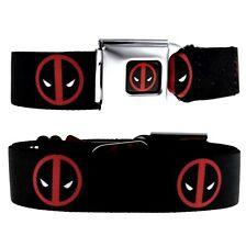 Red Deadpool Mask Logo Wade Winston Wilson X-Men Seat Belt Seatbelt Buckle Down