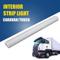 12V LED Car Interior White Strip Lights Bar Roof Lamp Van Caravan Boat Home UK