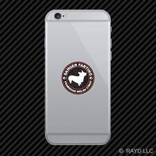 Danger Farting Pembroke Welsh Corgi dog canine pet Cell Phone Sticker Mobile
