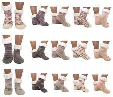 Hütten- Socken Schuhe Hausschuhe ABS Teddy Mixed -