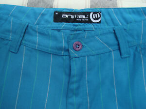 "Men's/Boy's Blue Animal Bermuda Shorts. 32"" Waist. Used."