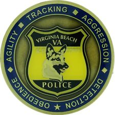 Virginia Beach Police K9 Challenge Coin