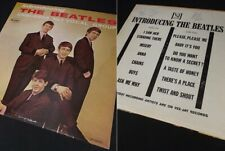 INTRODUCING THE BEATLES LP record VeeJay 1964 column back brackets mono VJLP1062
