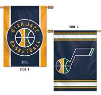 "Utah Jazz 2 Sided NBA House Flag Licensed Basketball 28"" x 40"""