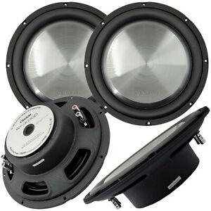 """2x Clarion WF3030D 2000W Max 12"""" Dual 4Ohm Voice Coil Shallow-Mount Subwoofer"""