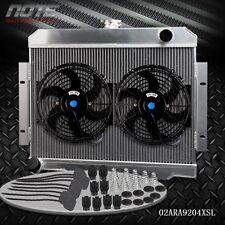 """Aluminum Radiator With 2 x 10"""" Fan For JEEP CJ CJ5-CJ7 3.8-5.0 MT 72-86"""