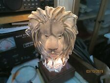 Large Crystal Lion Figure with  Mirror