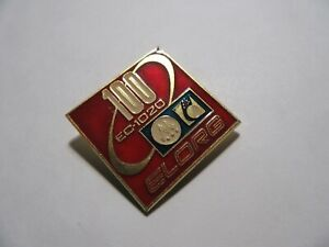 1980s Soviet Pin Badge Computer ES-1020 Mainframe ELORG USSR Exhibition Export