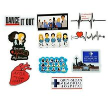 Greys Anatomy 10 Stickers (D) U R my Person~After my own Heart ~M.A.G.I.C.~Vinyl