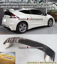 Mu-gen Style Rear Trunk Spoiler Wing (Mid-Carbon) + Emblem Fits 11-14 CR-Z 2dr