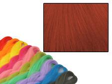 CYBERLOXSHOP PHANTASIA KANEKALON JUMBO BRAID RUST RED HAIR DREADS