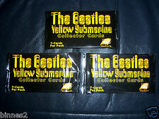 THE BEATLES YELLOW SUBMARINE SUBAFILMS 3 PACKS UNOPENED TRADING CARDS 7 PER PACK