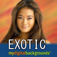 EXOTIC Digital Photography Backdrops Backgrounds Muslin Greenscreen