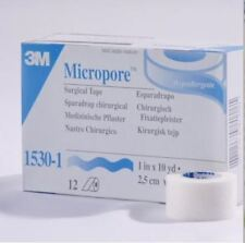 "3M Micropore White Surgical Tape 1530-1 1"" X 10yd 12 rolls(1 box)"