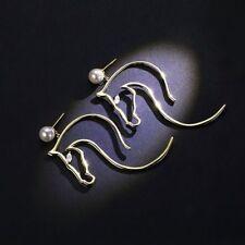 Horse face head Gold EARRINGS Statement Modern Jewellery