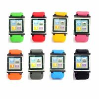 Silicone Watch Band Wrist Strap Bracelet Case Cover For Apple iPod Nano 6 6th 6g