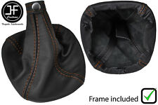 BROWN STITCH LEATHER GEAR BOOT WITH PLASTIC FRAME FITS ALFA ROMEO MITO 08-17