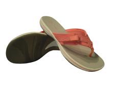 Damen Clarks Sandalen Flip Flops Größe 6 Flach Keilabsatz Pink Zehensteg Schuhe