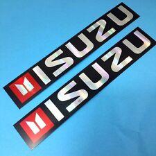 "New 2X  ""ISUZU"" Truck Pick up 4WD Car Racing Reflective Foil Stickers Decals"