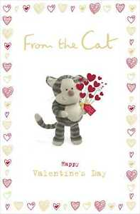 Boofle From The Cat Valentine's Greeting Card Cute Valentines Day Cards