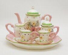 Bouquet Floral Design Porcelain Children's 10 pc. Tea Party Set