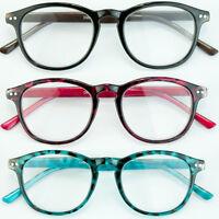 Retro Style Plastic Round Medium Reading Glasses Black Red Glasses 1.00 3.00