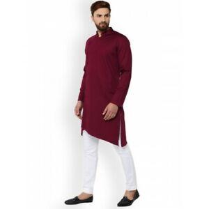 Indien 100% Coton Homme Chemise Manches Longues Kurta pour Vêtement de Loisirs