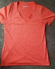 Reebok Women's Pink/Orange Performance Athletic Shirt Size Medium Euc