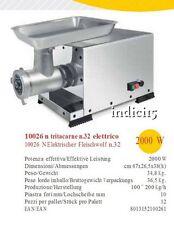 Indici15 Tritacarne Elettrico INOX 10026N n°32 ghisa 2000W Professionale Reber