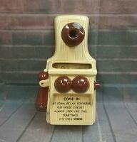 Vintage NORCREST Ceramic Wall Telephone Pocket  Planter P156