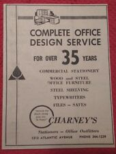 1964 Charney's Stationers & Office Outfitters Atlantic City NJ Advertisement