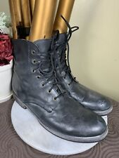 BEDSTU Handcrafted Black Leather Casual Boots S2C Standup To Cancer Men's US 12M