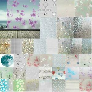 PVC Frosted Self-Adhesive Window Glass Film Opaque Privacy Protection Sticker