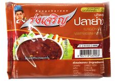 6X (20g.) Thai Chili Paste& Dip [RUNGCHAROEN BRAND] Grilled Fish (Playang) Mini