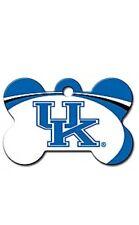 NCAA Kentucky Wildcats BBN Engraved Dog Bone Pet ID Tag w/ Free Key Chain Ring