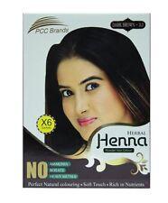 Herbal Henna Powder Hair Colour Dark Brown  6 Sachets