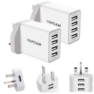 Wall Charger Plug Multi 1/2/3/4 USB UK Plug Power Adapter For Samsung iphone lot
