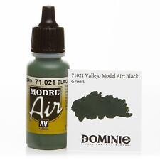 Vallejo Black Green Paint 17ml Bottle Model Air VAL 71021