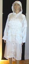 Mesdames Lightwieght poussière manteau luisant Blanc avec Capuche et Queue de Poisson dos Taille 14