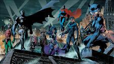 JIM LEE HUSH -  BATMAN #619 HEROES Poster DC Catwoman Huntress Superman