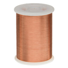 """44 AWG Gauge Enameled Copper Magnet Wire 1.0 lbs 79798' Length 0.0022"""" 155C Nat"""