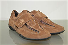 pretty sneakers shoes scratches suede camel GEOX BREATHED size 37