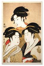 Asian Japanese Art Print Three Beauties by Utamaro