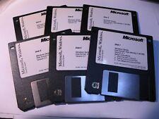 Microsoft Windows 3.1 Install Floppy Disc Set of 6 - Vintage Used